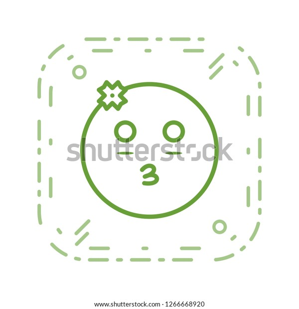 Girl Emoji Vector Icon Sign Icon Stock Vector (Royalty Free