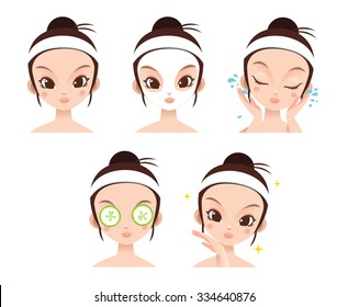 Girl Facial Beauty Vector