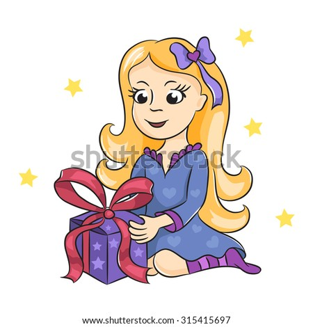 The Girl With A Gift Cute Got Birthday Happy