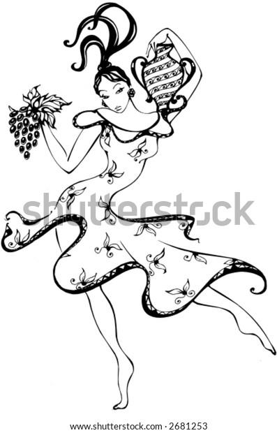 girl with grape, logo