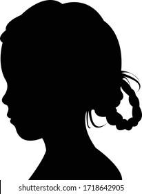 a girl head silhoutte vector