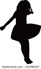 a girl jumping body silhouette vector