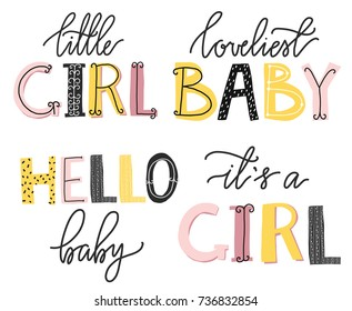 It's a girl lettering. Cute alphabet. Funny letters