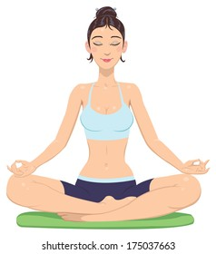 girl in lotus position