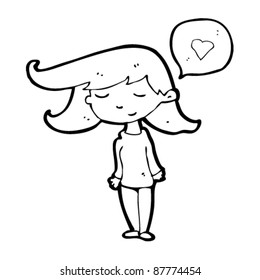 girl in love cartoon