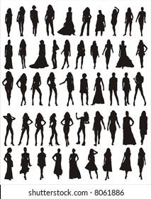 girl models vector shapes