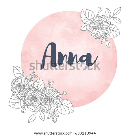 girl name anna calligraphy lettering cute stock vector royalty free