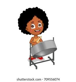 girl playing steelpan