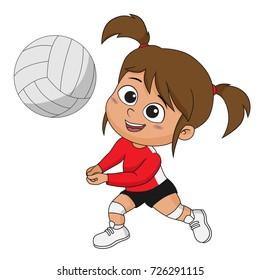 Cartoon Volleyball Player Images Stock Photos Vectors Shutterstock