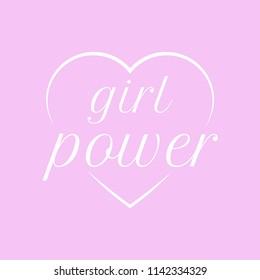 Girl power banner. Vector illustration.