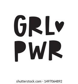 Girl Power hand lettered phrase