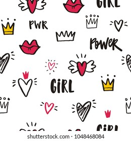 Girl Power Vector illustration and lettering