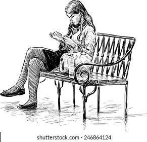 Astonishing Drawing Bench Images Stock Photos Vectors Shutterstock Pabps2019 Chair Design Images Pabps2019Com