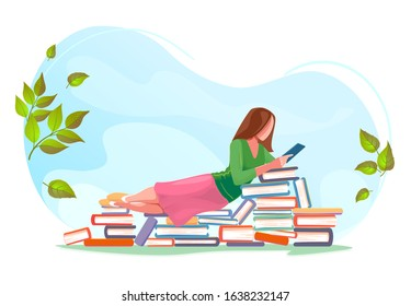 Book Reading Spring Images, Stock Photos & Vectors | Shutterstock
