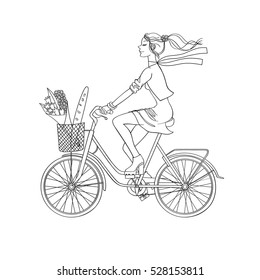 Girl Riding Bicycle Images Stock Photos Vectors Shutterstock