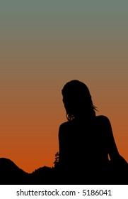 girl silhouette 3