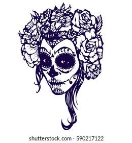 girl skeleton make hand drawn 260nw