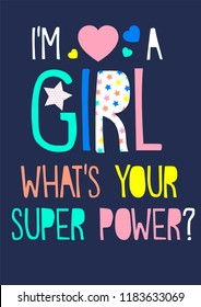 girl slogan super power