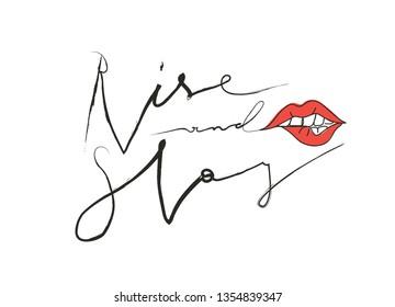 "Girl slogan for t shirt. Modern beautiful print for girls. Vector illustration. Creative typography slogan design. Sign ""Rise and Slay""."