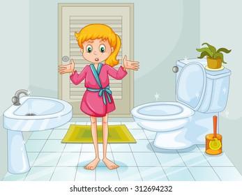 Bathroom Cartoon Images Stock Photos Vectors Shutterstock