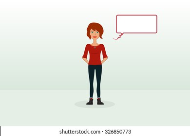 Girl Standing and Talking