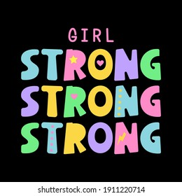 girl strong cute abstract,Graphic design print t-shirts  sport fashion,vector,poster,card