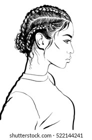 Girl With Stylish Braids