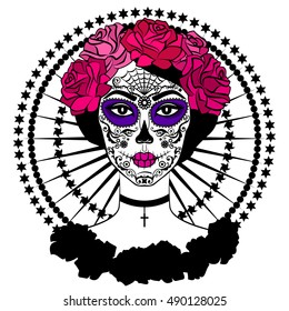 girl sugar skull makeup calavera catrina stock vector 490127893 rh shutterstock com victor carini victor catrambone