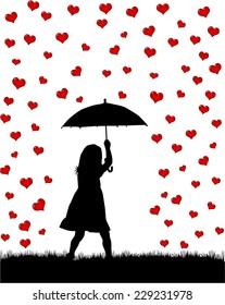 girl under the umbrella