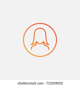 Girl user icon.gradient illustration isolated vector sign symbol
