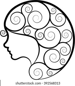 girl vector art for print and logo