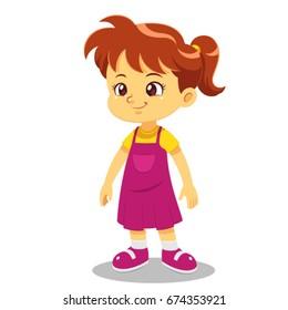Girl vector cartoon.