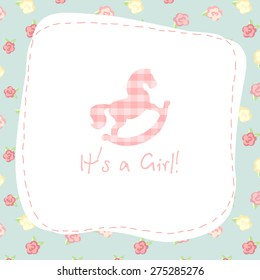 It's a girl. vector congratulation card