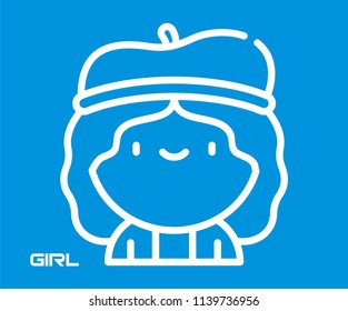 GIRL VECTOR ICON