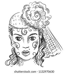 Girl. Vector illustration