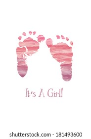 Its a Girl watercolor