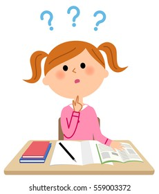 The girl who studies,Question