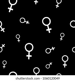 Girl woman power venus fist feminist seamless pattern Inspiration graphic design typography textile element Hand drawn wraping print Simple vector background. Protest patriarchy sexism misogyny female