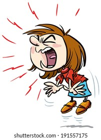 Girl Yelling Loudly