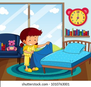 Kid Make Bed Images Stock Photos Amp Vectors Shutterstock