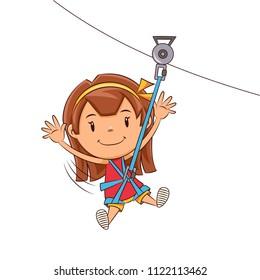 Girl ziplining tour