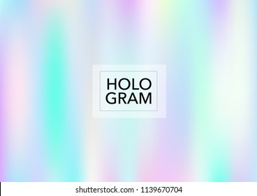 Girlie Hologram Gradient Vector Background. Luxury Trendy Tender Pearlescent Glam Overlay. Rainbow Holographic Princess, Fairytale, Cute Girlie Texture. Unicorn Fairy Tale Neon Hologram Gradient