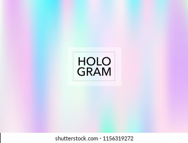 Girlie Hologram Gradient Vector Background. Soft Trendy Tender Pearlescent Rainbow Overlay. Cool Funky Holographic Princess, Fairytale, Cute Girlie Texture. Unicorn Fairy Tale Tech Hologram Gradient