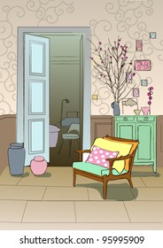 Girlie room in spring