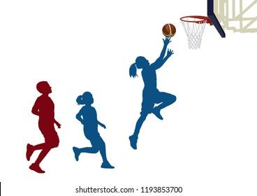 Girls Basketball player