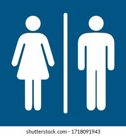 Girls and boys restroom sign. men and women restroom icon. toilet icon sign symbol. vector illustration.