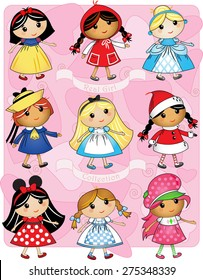 Girls as characters collection.