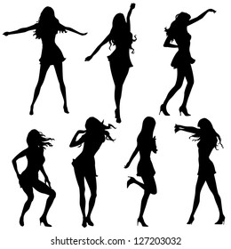 girls dancing in silhouettes