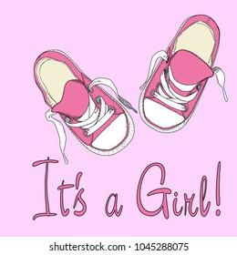 girls footwear drawing by handmade