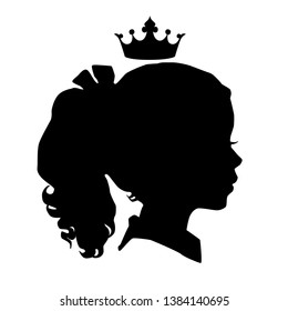 Girl's head, crown and background on different layers